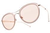 CARIN 太陽眼鏡 KATE C2 (透粉-玫瑰金-粉鏡片) 韓星秀智代言 雙槓造型貓眼款 # 金橘眼鏡