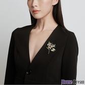胸針 淡水珍珠胸針ins潮個性高檔女氣質奢華西裝配飾百搭大氣胸花別針