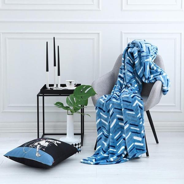ELLE DECOR 巴黎夜藍超細纖維印花毯單人 014184113 可超取