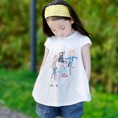 2020新款夏季韓版女童短袖t恤兒童中大童圓領純棉娃娃打底衫上衣 小城驛站