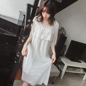 全館83折 2019新款春夏季氣質睡裙日系韓國可愛蕾絲公主仙女神莫代爾女睡衣