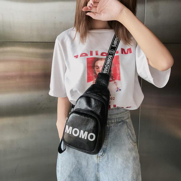 胸包 夏季上新小包包女2019新款潮韓版百搭斜挎單肩包字母時尚休閒胸包 3色
