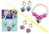 【卡漫城】 冰雪奇緣 耳環 & 手環 二件組 二款選一 ㊣版 韓版 Frozen Elsa 兒童 飾品 手鍊 耳飾 雪寶