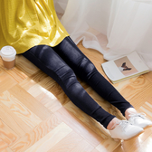 《BA3501-》素色直壓紋內刷毛褲頭鬆緊窄管褲.4色 OB嚴選