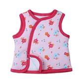 女Bab女童鋪棉背可愛小紅鶴粉色純棉背心現貨 歐美品質