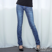 Victoria 小袋貼鑽TENCEL小直筒褲-女-淺藍-VW2116
