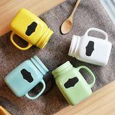 七夕節禮物-杯子帶蓋勺大容量留言情侶馬克杯陶瓷杯咖啡杯 限時八八折