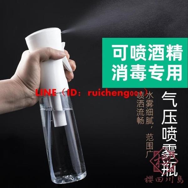 高壓噴霧瓶酒精消毒化妝補水超細細霧霧化噴瓶空瓶按壓稀釋噴壺【櫻田川島】