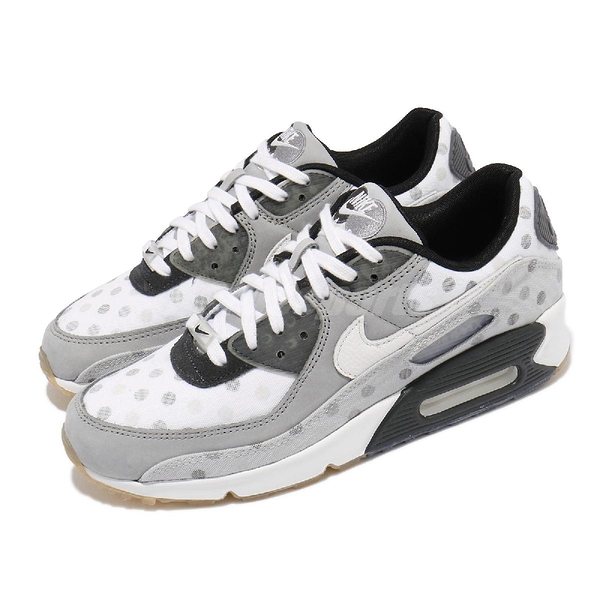 Nike 休閒鞋 Air Max 90 NRG 灰 白 點點 Polka 男鞋 限量【ACS】 CZ1929-100