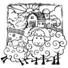 【貝登堡】楓木印章/木頭印章/木頭章 羊...