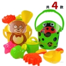 沙灘工具桶 7件式 瓢蟲 小熊 690-1/一桶入(促220) 海灘工具桶 小孩堆砂工具 沙灘玩具-CF145737