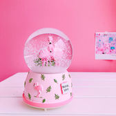 正韓chic風少女心火烈鳥水晶球八音盒音樂盒ins擺件裝飾生日交換禮物 萬聖節