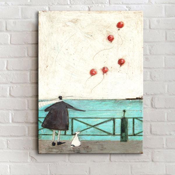 30*40cm田園裝飾畫餐廳無框畫單幅壁畫油畫【步行者戶外生活館】