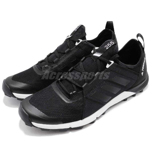 adidas 戶外鞋 Terrex Agravic Speed 黑 白 馬牌輪胎鞋底 健行 登山 運動鞋 男鞋 【PUMP306】 CM7577