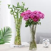 大號六角玻璃花瓶透明簡約富貴竹百合水培花瓶家用客廳鮮花插花瓶 居家物語