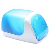 維杜卡藍色光盤箱cd包dvd盒塑料火車頭自動式60片收納儲存箱·樂享生活館