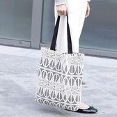 帆布袋 側背包 蕾絲 鏤空 清新 手提包 帆布包 環保購物袋-手提/單肩包【AL206】 icoca  09/20
