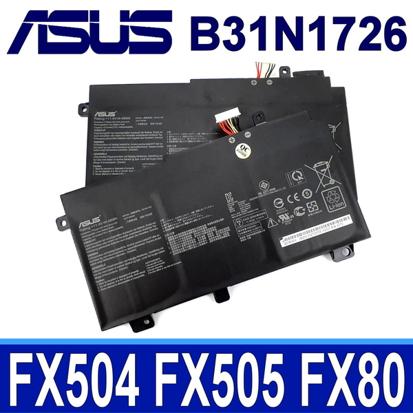 ASUS B31N1726 . 電池 FX505DT FX505DU FX505DY FX505GD PX505GE TUF504 TUF504GD TUF504GE TUF504GM TUF505DY