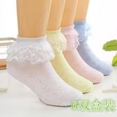 女童蕾絲襪 兒童襪子春秋公主蕾絲花邊襪女童舞蹈襪白色純棉夏網眼薄學生短襪 夏季新品