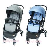 BabyBabe 嬰幼兒時尚旅行推車 牛仔藍/亞麻灰