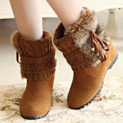 低筒雪靴-時尚休閒百搭內增高女高跟靴子3色73kg12[巴黎精品]