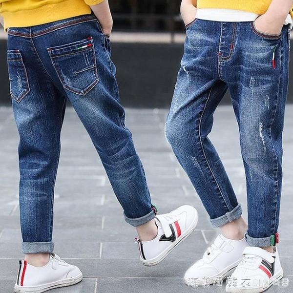 牛仔褲男童學生兒童童褲長褲春衛生褲子兒童秋裝男褲小中大童 漾美眉韓衣