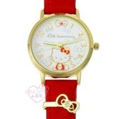 ♥小花花日本精品♥ Hello Kitty手錶手表金色邊框蝴蝶結圖案生日禮盒二色下單選一日製22023704