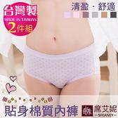 貼身褲 中低腰 貼身包覆 微笑MIT台灣製 no.1003 (2件組) -席艾妮SHIANEY