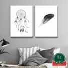 【單幅】黑白簡約壁畫客廳背景墻畫北歐裝飾畫臥室掛畫【福喜行】