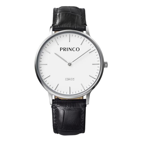 PRINCO 時尚經典一卡通速PAY石英錶-37mm白底銀邊(快拆皮革錶帶)(MD0200S)