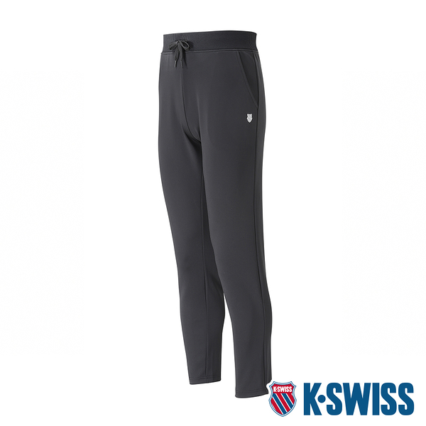 K-SWISS Basic Straight Pants 運動長褲-男-黑