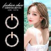 百搭圓環純銀耳釘女氣質韓國個性耳環簡約無耳洞耳夾耳墜耳飾