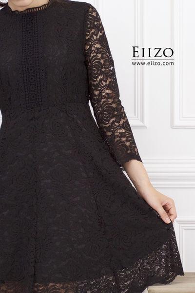 【EIIZO】優雅氣質蕾絲洋裝(黑)
