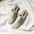 穆勒鞋 夏季粗跟包頭拖鞋女淺口時尚外穿網...