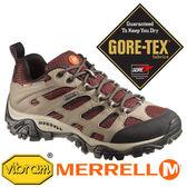 【美國 MERRELL】MOAB女GORE-TEX健行鞋『米/暗紅』57750 機能鞋多功能鞋休閒鞋登山鞋低筒短筒女版