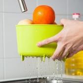 居家廚房洗菜籃收納架瀝水籃水槽置物架果蔬濾水籃垃圾桶JY011 綠色【魔小物】「 2 」