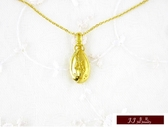 9999純金 福字 墜飾 (寓意:開福門) 黃金墜飾 墜子 送精緻皮繩項鍊