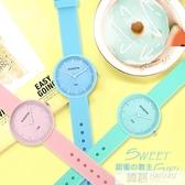 手錶女時尚潮流韓版簡約休閒可愛中學生兒童考試手錶小清新石英錶  韓慕精品