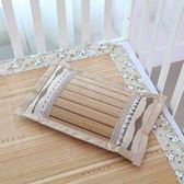 夏季嬰兒涼席枕席竹枕片兒童午睡護頸枕寶寶竹子枕套竹枕頭