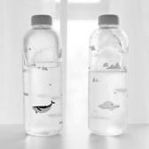全館83折 北極熊杯子韓國超大容量玻璃水杯子女學生簡約便攜創意水瓶1000ml