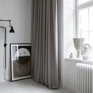 窗簾 遮光簡約現代臥室北歐網紅款ins棉麻風灰色全輕奢布客廳隔熱-三山一舍