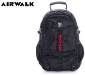 【橘子包包館】AIRWALK 都市拳擊手 蛋型多功能調節式運動筆電後背包 A615323540 黑配紅字