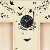 掛鐘時尚創意歐式鐘錶掛鐘客廳現代簡約個性裝飾掛錶家用靜音潮流藝術     color shopYYP