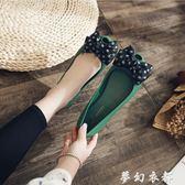果凍雨鞋 19夏季圓點蝴蝶結魚嘴果凍鞋 甜美淺口平跟防水雨鞋沙灘鞋女涼鞋 夢幻衣都