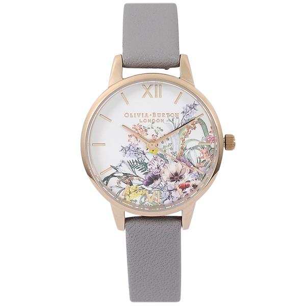 Olivia Burton英倫皮革錶帶玫瑰金錶框