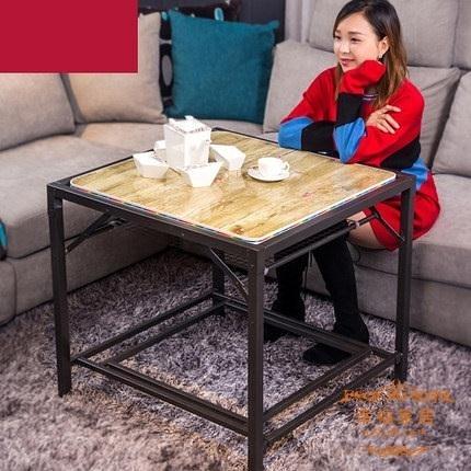 烤火桌子 不鏽鋼家用取暖桌折疊冬季正方形多功能四方烤火架T