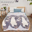 台灣製 雙面法蘭絨厚舖棉暖暖被【大白熊】...