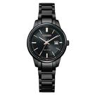 【台南 時代鐘錶 CITIZEN】星辰 光動能 PAIR 對錶 日期 光動能 鋼錶帶女錶 EW2597-86E 黑 29mm