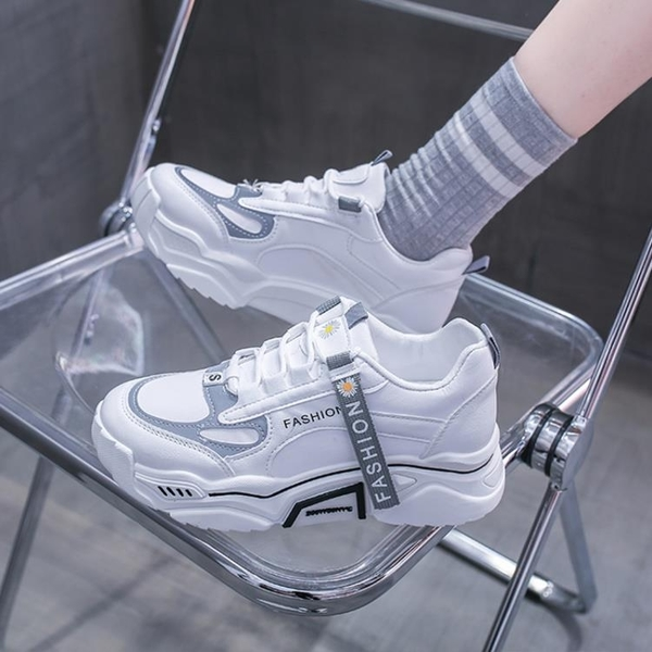 老爹鞋 老爹鞋女ins潮牌2021夏季新款韓版顯腳小百搭網面透氣運動鞋超火 歐歐