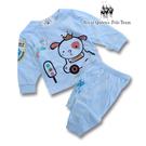 藍色小狗圖案薄棉長袖居家休閒服 睡衣套裝 RQ POLO 春夏款 [31167]
